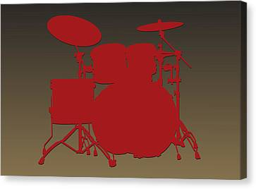 San Francisco 49ers Drum Set Canvas Print by Joe Hamilton