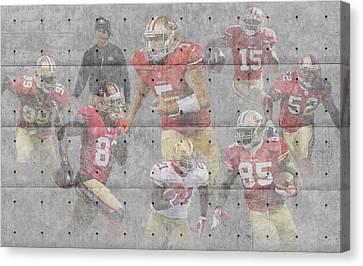 San Francisco 49ers Team Canvas Print by Joe Hamilton