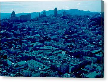 San Francisco 8 1955 Canvas Print by Cumberland Warden