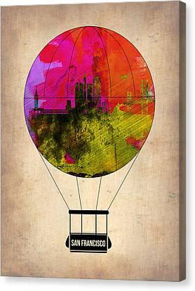 San Francisco Air Balloon 1 Canvas Print by Naxart Studio