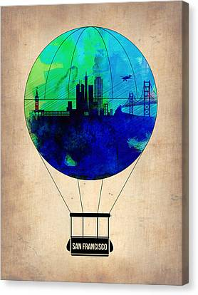 San Francisco Air Balloon Canvas Print by Naxart Studio