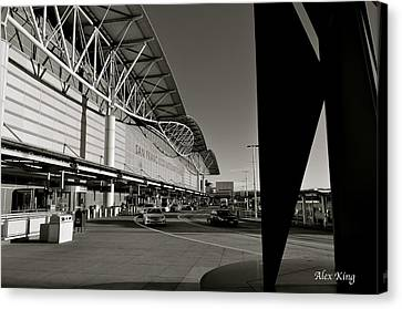 Canvas Print featuring the photograph San Francisco Airport by Alex King