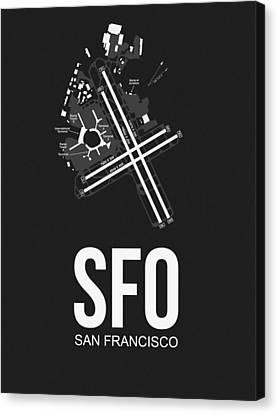 San Francisco Airport Poster 1 Canvas Print by Naxart Studio