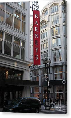San Francisco Barneys Department Store - 5d20544 Canvas Print by Wingsdomain Art and Photography