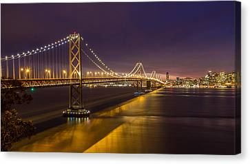 San Francisco Bay Bridge Canvas Print by Pierre Leclerc Photography