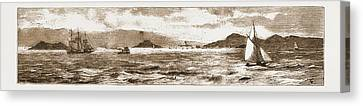 San Francisco Bay, From The Golden Gate, 1883 Canvas Print by Litz Collection