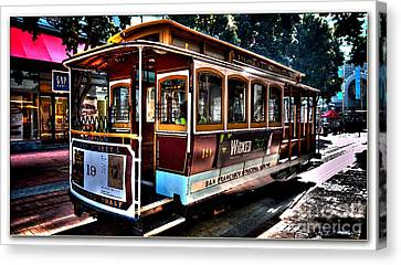 San Francisco Cable Car Painting Canvas Print by Marvin Blaine