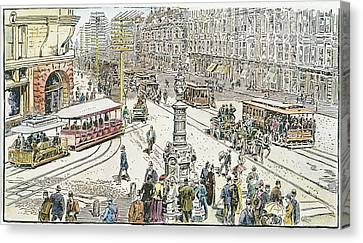 San Francisco Cable Cars Canvas Print by Granger