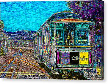 San Francisco Cablecar - 7d14097 Canvas Print by Wingsdomain Art and Photography
