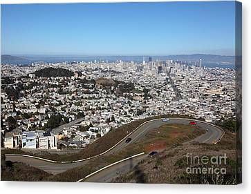 San Francisco California From Twin Peaks 5d28053 Canvas Print by Wingsdomain Art and Photography