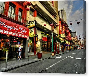 San Francisco - Chinatown 005 Canvas Print by Lance Vaughn