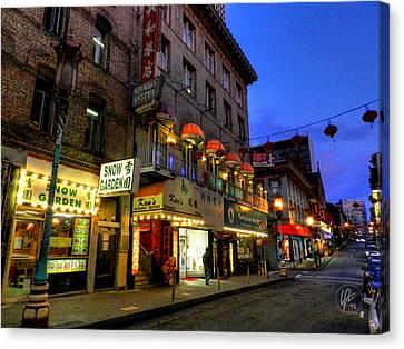 San Francisco - Chinatown 007 Canvas Print by Lance Vaughn