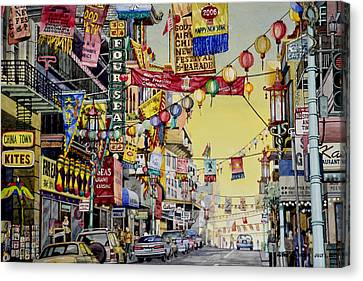 San Francisco Chinatown Canvas Print