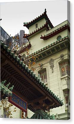 San Francisco Chinatown Dragon Gate Canvas Print by SFPhotoStore