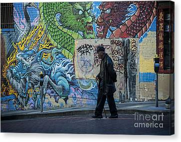San Francisco Chinatown Street Art Canvas Print