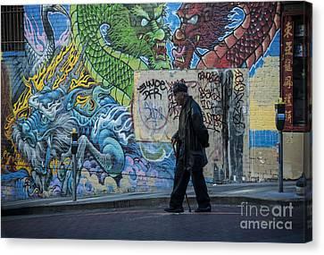 San Francisco Chinatown Street Art Canvas Print by Juli Scalzi