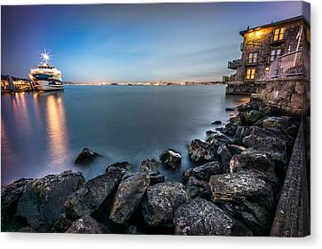 San Francisco Citiyscape From Sausalito United States Canvas Print by Giuseppe Milo