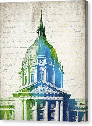 San Francisco City Hall Canvas Print by Aged Pixel