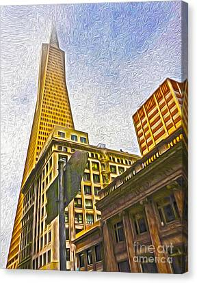San Francisco - Cityscape - 05 Canvas Print by Gregory Dyer