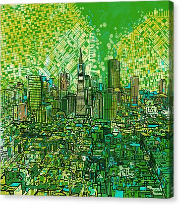 San Francisco Cityscape 3 Canvas Print by Bekim Art
