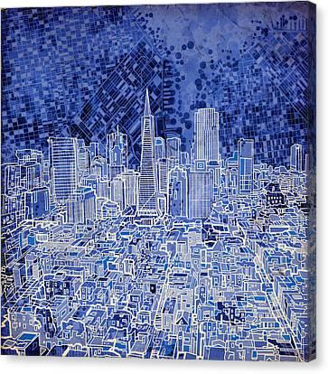San Francisco Cityscape 4 Canvas Print