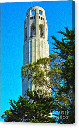 San Francisco - Coit Tower - 01 Canvas Print by Gregory Dyer