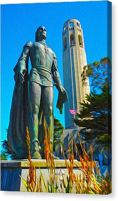 San Francisco - Coit Tower - 02 Canvas Print by Gregory Dyer