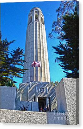 San Francisco - Coit Tower - 03 Canvas Print by Gregory Dyer