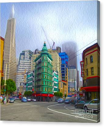 San Francisco - Columbus Street Canvas Print by Gregory Dyer