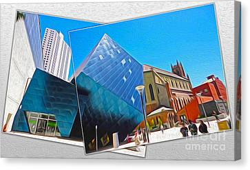 San Francisco - Contemporary Jewish Museum - 01 Canvas Print by Gregory Dyer