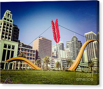 Architectur Canvas Print - San Francisco Cupid's Span by Colin and Linda McKie