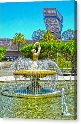 San Francisco - De Young Museum - 01 Canvas Print by Gregory Dyer
