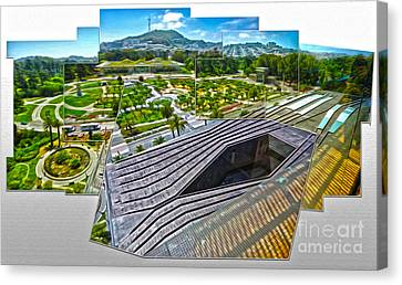 San Francisco - De Young Museum - 02 Canvas Print by Gregory Dyer