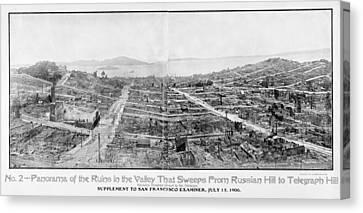 San Francisco Earthquake, 1906 Canvas Print