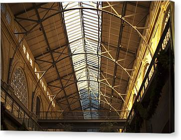 San Francisco Ferry Building Interior Canvas Print by SFPhotoStore