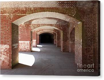 San Francisco Fort Point 5d21546 Canvas Print by Wingsdomain Art and Photography