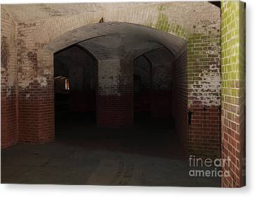 San Francisco Fort Point 5d21548 Canvas Print by Wingsdomain Art and Photography
