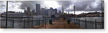 San Francisco From Pier Canvas Print by Haleh Mahbod