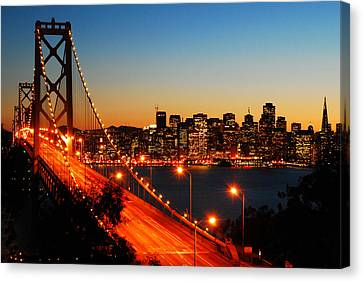 The City By The Bay Canvas Print by James Kirkikis