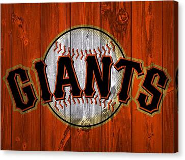 Pitcher Canvas Print - San Francisco Giants Barn Door by Dan Sproul