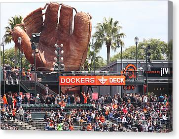 San Francisco Giants Fan Lot Giant Glove 5d28142 Canvas Print by Wingsdomain Art and Photography
