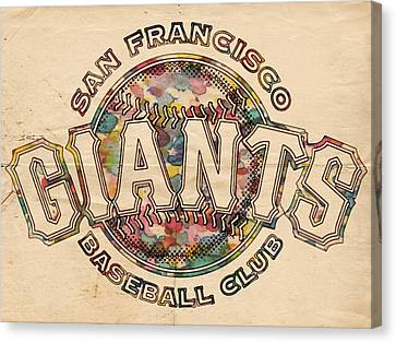 San Francisco Giants Canvas Print - San Francisco Giants Poster Vintage by Florian Rodarte