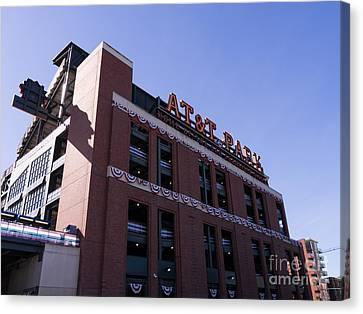 Att Park Canvas Print - San Francisco Giants World Series Baseball At Att Park Dsc1886 by Wingsdomain Art and Photography