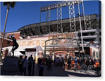 Att Park Canvas Print - San Francisco Giants World Series Baseball At Att Park Dsc1896 by Wingsdomain Art and Photography
