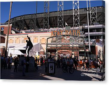 Att Ballpark Canvas Print - San Francisco Giants World Series Baseball At Att Park Dsc1899 by Wingsdomain Art and Photography