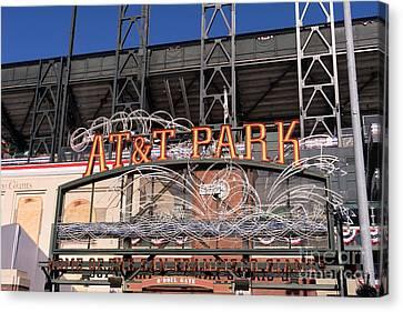 Att Park Canvas Print - San Francisco Giants World Series Baseball At Att Park Dsc1901 by Wingsdomain Art and Photography