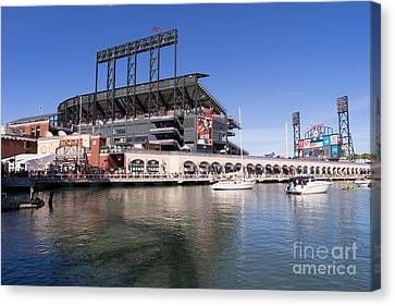 Att Park Canvas Print - San Francisco Giants World Series Baseball At Att Park Dsc1906 by Wingsdomain Art and Photography