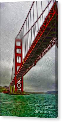 San Francisco - Golden Gate Bridge - 02 Canvas Print by Gregory Dyer