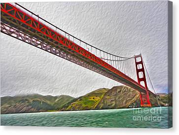 San Francisco - Golden Gate Bridge - 03 Canvas Print by Gregory Dyer