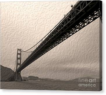 San Francisco - Golden Gate Bridge - 05 Canvas Print by Gregory Dyer